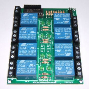 RKRelay8 Relay Module - Great for Atmel, Arduino & Raspberry PI - Self Build Kit (2)